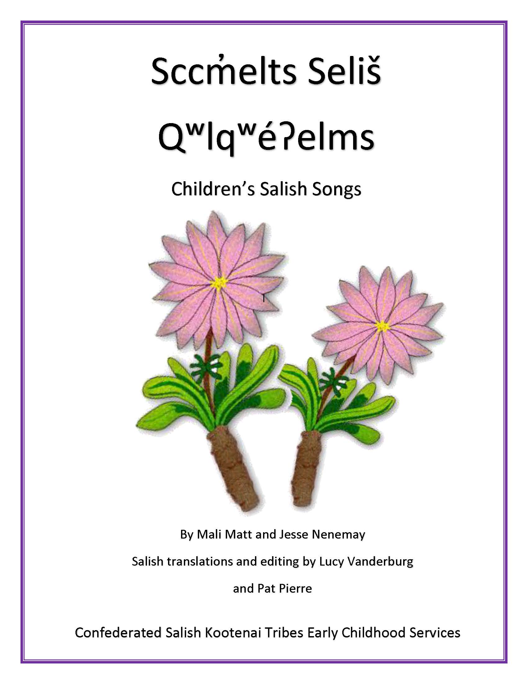 ECS Childrens Salish Song Book Page 01