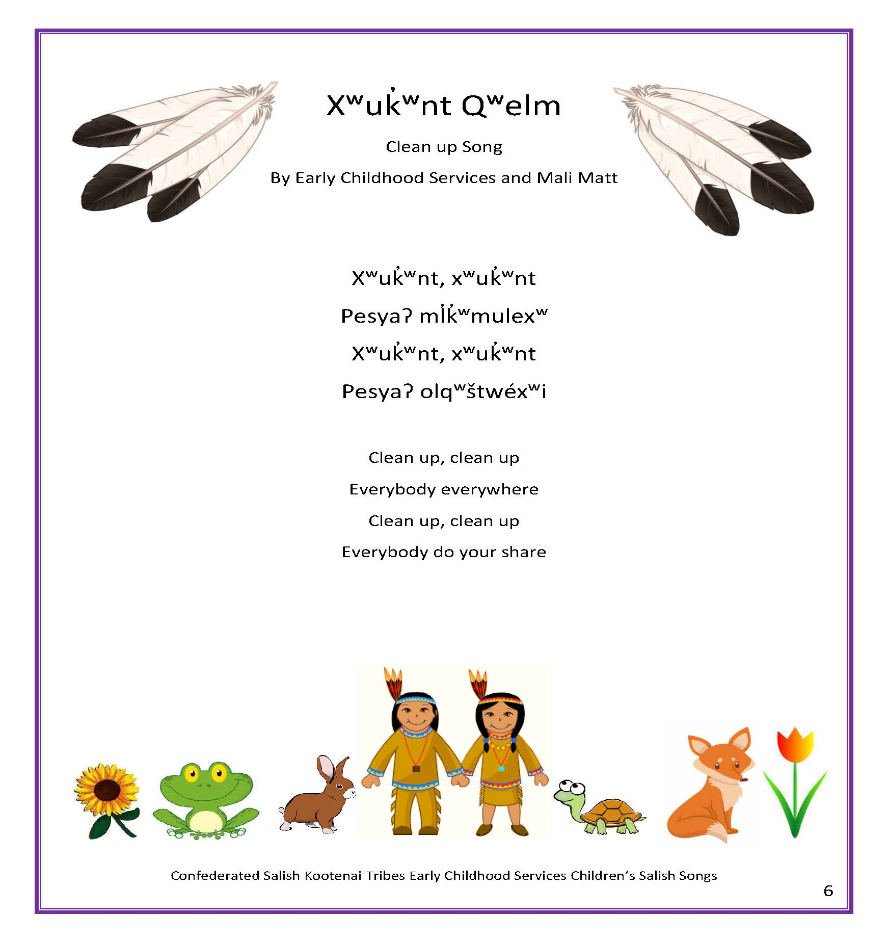 ECS Childrens Salish Song Book Page 11