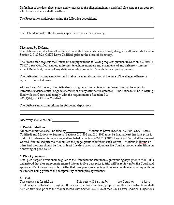 Memorandum of oral pleading