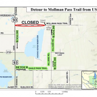 Mollman Pass Road detour ATTENTION!
